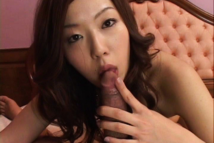 Aiko Furuuchi hot babe in her gold bikini ready for oral sex