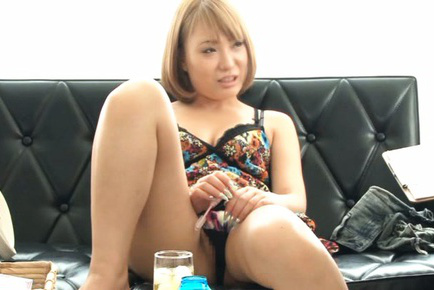 Japanese av model. Japanese AV Model with hot cleavage puts