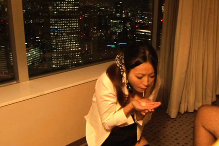 Miwako yamamoto. Miwako Yamamoto Asian with hot ass is caught on cam getting cumshot