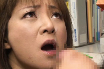 Ai komori. Ai Komori Asian with nude bust gets cumshot on lips after gulp