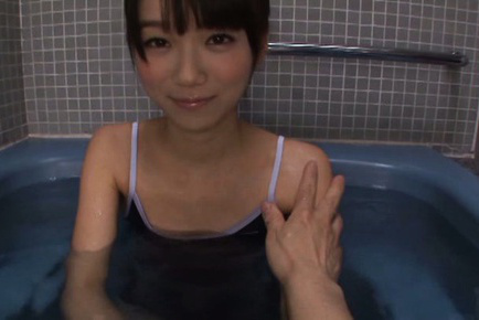 Asuka hoshino. Asuka Hoshino Asian rubs her clit while is pumped in the water