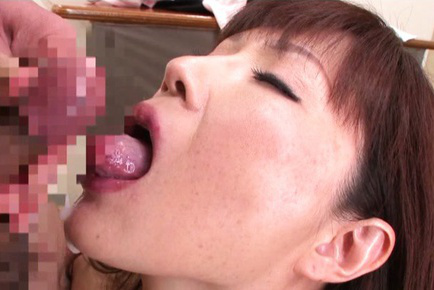 Reiko shimura. Reiko Shimura Asian gets ejaculate in mouth after