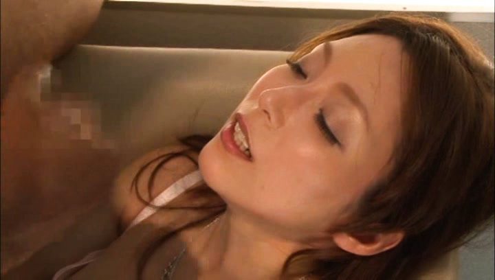 Japanese av model. Japanese AV Model dick sucking dick and is about to get ejaculate on voluminous tits