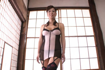 Noriko igarashi. Noriko Igarashi Asian with voluminous jugs in excited lingerie blow penis