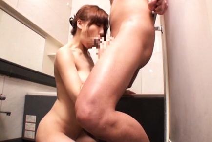 Ryouka yuzuki. Ryouka Yuzuki Asian gulp cock and fondles man