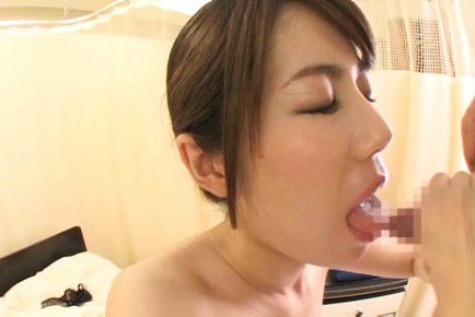 Riona kizaki. Riona Kizaki Asian with juicy titties cock sucking woody to obtain cumshot