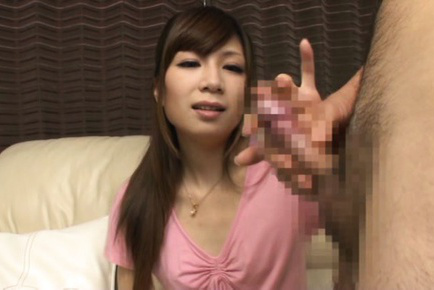 Japanese av model. Japanese AV Model in short skirt is happy to