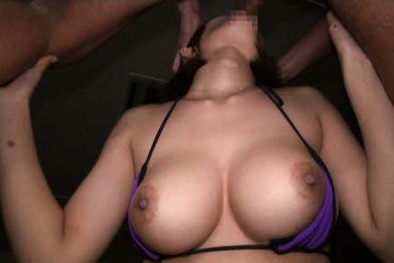Yuzu ogura. Yuzu Ogura Asian with large firm knockers has mouth full of cock
