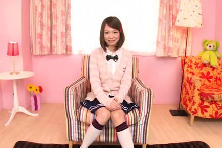 Yuuka yamaguchi. Yuuka Yamaguchi Asian in uniform is shy to look