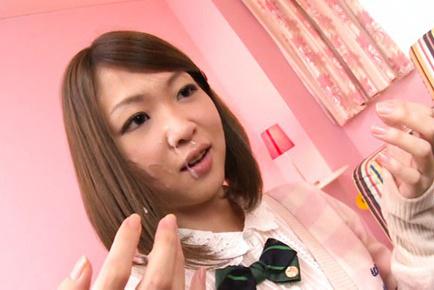 Yuuka yamaguchi. Yuuka Yamaguchi Asian in uniform gets cumshot