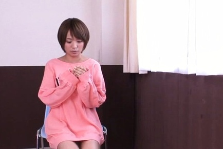 Rika hoshimi. Rika Hoshimi Asian in pink blouse touches and cock